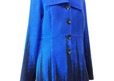 Blue Coat (Carol Carter), 2017: Cotton; clasped weft plain weave. $250