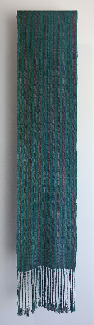 Scarf (Sheila Devine), 2017: 100% silk; 4 Shaft Fancy Twill. $100