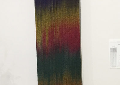 Woven Scarf (Sharon Genge), 2017: Silk noil; hand-painted warp, woven with bamboo. NFS