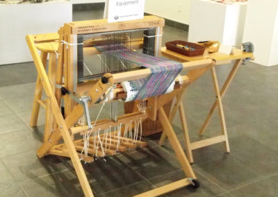 Loom. Donated to the Saskatoon Spinners and Weavers Guild by Merle Bocking.