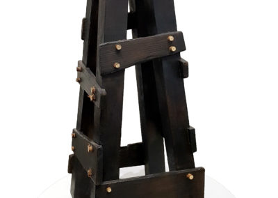 Anvil Deconstructed (Farrell Rupert, Andrew Hayes), 2012: Wood, metal. Collection of Bev and Craig.