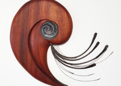 Untitled (Arthur Perlett, Veronica Tricker, Jodi Greenman-Barber, Henry Pomfret), 2008: Wood, metal. Collection of Arthur Perlett and Veronica Tricker.