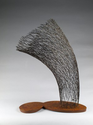 15. Embracing 2015-3 (Kye-Yeon Son), 2015: Steel, rust, magnet. $5600