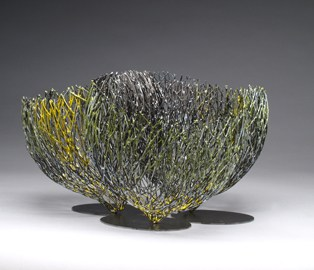 16. Embracing 2012-3 (Kye-Yeon Son), 2012: Steel, enamel. $4400
