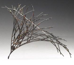37. Innate Gesture 2014-2 (Kye-Yeon Son), 2014: Steel, enamel. $560