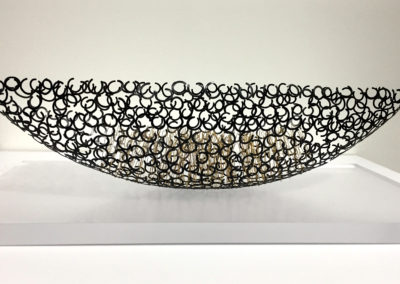 4. Untitled Vessel (Kye-Yeon Son), 2009: Nickel, silver, nylon coated, gold plated, stainless steel. $7000