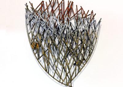 40. Innate Gesture 2015-7 (Kye-Yeon Son), 2015: Steel, enamel. $630