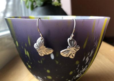 Earrings by Shannon Welch & glass by Kimberley Dickinson.