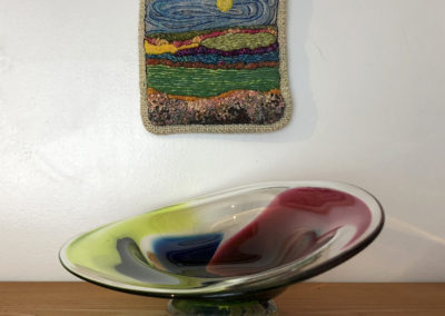 Fibre by Lynne Hermanson & dish by Bonny Houston.