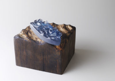 14. Precipice (Louisa Ferguson), 2018: Wood, glass. $500
