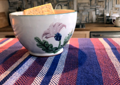 Bowl by Anne McLellan & towel by Alison Philips.