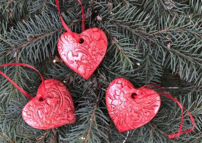 Ornaments by Vivian Orr.
