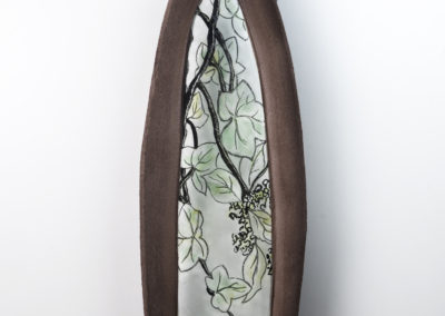 5. Ode to Obsolescence II (Ivy) (Louisa Ferguson), 2018: Painted and fused glass, glass powders, clay, steel, mortar. $600