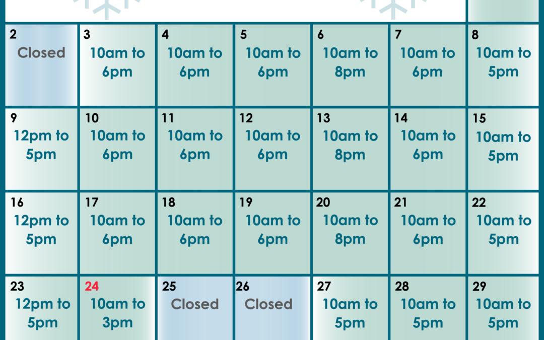 Extended December Hours