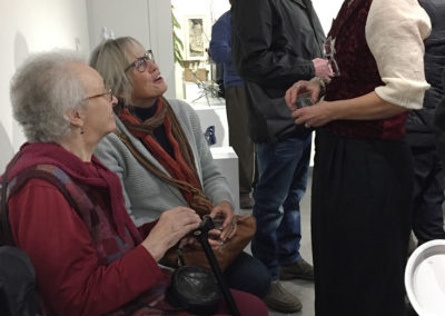 Louisa Ferguson with her very proud mother-in-law, Joan Flood