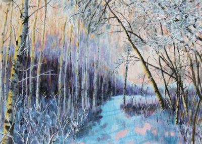Frost at Sunrise- fibre art