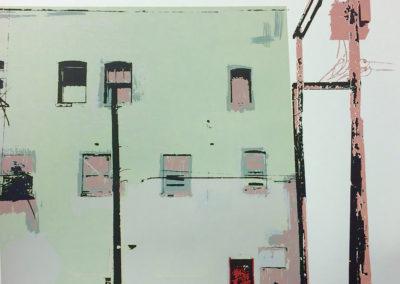 13. Continental Hotel, Saskatoon (Karli Jessup, Canada), 2016; Ink on paper; silkscreen. 17 x 22. $85