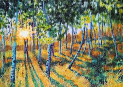Sunset Patterns - fibre art