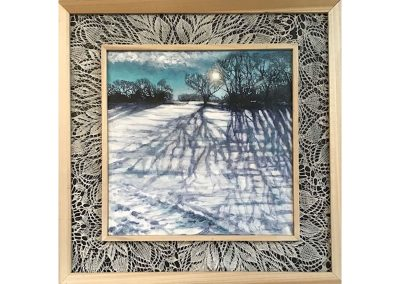 Winter Shadow Lace, 21.5x21