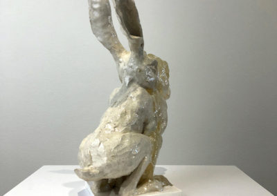 A Hare's Breath in Time (Philippa Jones), 2016: Resin, ceramic; . 32 x 14 x 19 cm. $1500