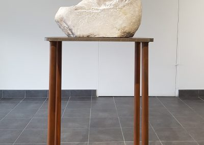 Breath (Robert Assié), 2019: Field marble; hand carved. Stand: 93 x 58 x 30 cm, Scultpure: 33.5 x 50 x 18 cm. $9800