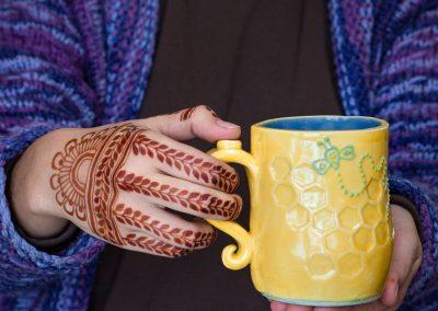 Henna and bee mug