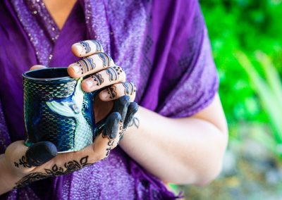 Henna and mermaid mug