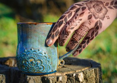 Mandala mug and henna