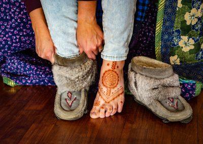 Mukluk and henna