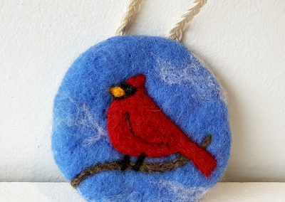 Felted ornament by Kara Perpelitz