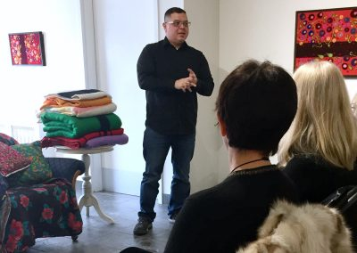 Thank you to Sakewewak Artist Collective for supporting this Artist Talk. Adam Martin, Executive Director, giving introductory remarks