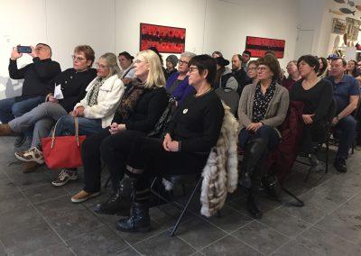 The Flower People Artist Talk audience