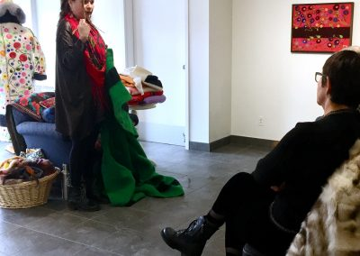 Melanie Monique Rose talking about her use of blankets in her artistic practice