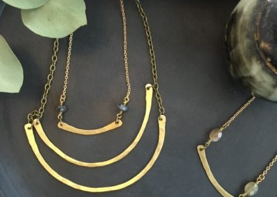 hammered brass necklaces