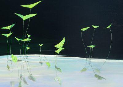 Arrowheads 36_x66_ oil on canvas