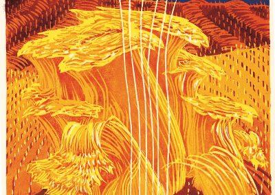 golden dream woodcut