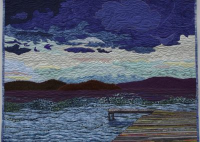 _The Dock on Sandy Bay Island, Reindeer Lake_ 2016, 52_ x 45_ Hilary Johnstone