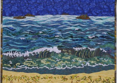 _Wave_ 2016, 36_ x 28_, fabric collage, Hilary Johnstone
