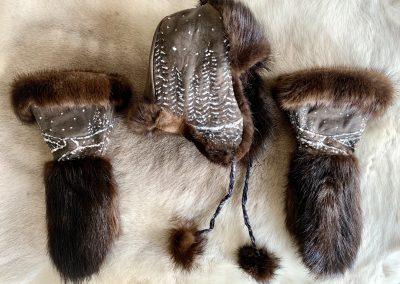 Fur & Leather Ensemble